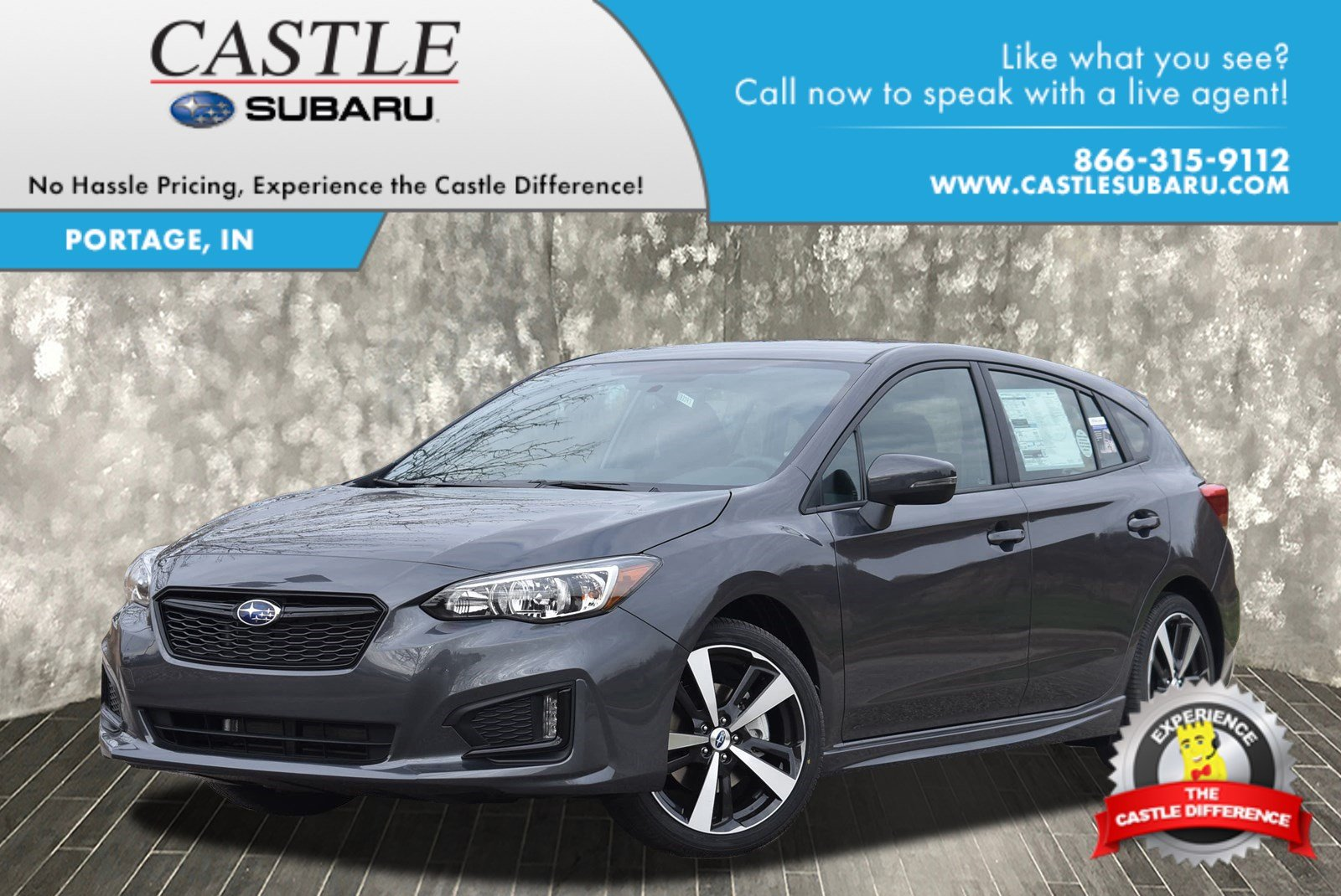 new 2018 subaru impreza sport hatchback in portage 18347 castle automotive group. Black Bedroom Furniture Sets. Home Design Ideas